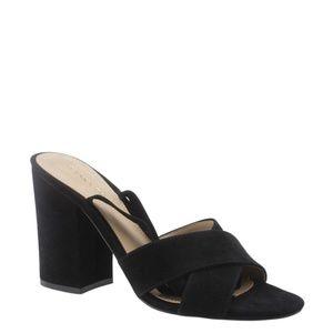 Ivanka Trump Kuriel Black Sandalsx Size 8.5 168178